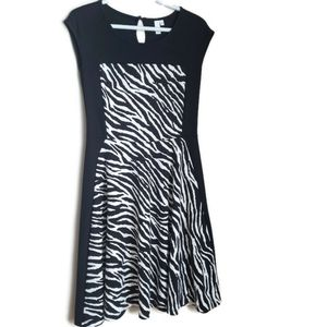 JL Bold zebra fit and flare dress